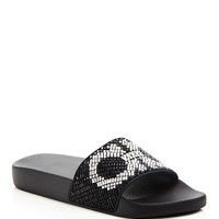 Salvatore FerragamoGroove Embellished Slide Sandals