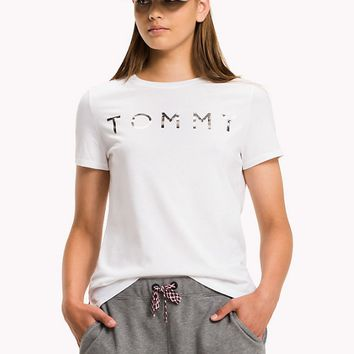 """ Tommy Jeans"" Round-neck Tops Crop Top Short-sleeve T-shirt"