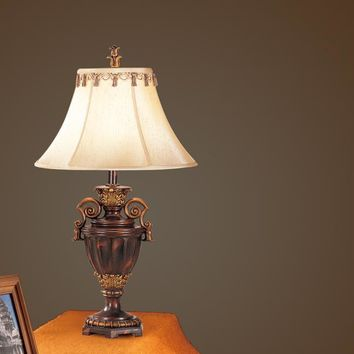 Antiqued Resin Table Lamp Set of 2 By Poundex