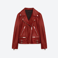 LEATHER JACKET - View all-OUTERWEAR-WOMAN | ZARA United States