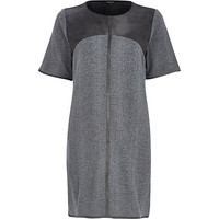 River Island Womens Grey snake print oversized top