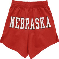 Nebraska Cornhuskers Women's Scarlet Authentic Soffe Shorts