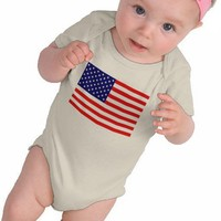 American Flag Baby T-Shirt from Zazzle.com