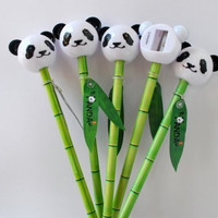 Bamboo Pencil and Panda Sharpener by ChinaExposure
