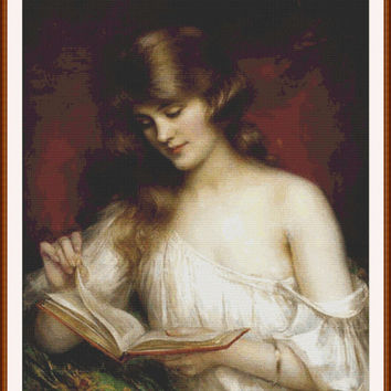 A quiet read by Albert Lynch CROSS STITCH PATTERN 847