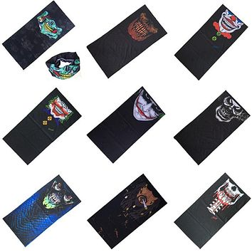 Sport Bicycle Motorcycle Bandana Scarf Headband Variety Turban Hood Magic Veil Head Scarf Multi Function Ski Skull Scarf