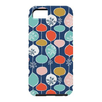 Heather Dutton Snowflake Holiday Bobble Chill Navy Cell Phone Case