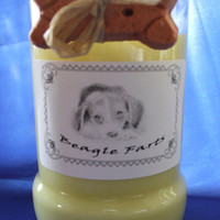 Beagle Farts Candle in a Recycled Liquor Bottle - 10oz