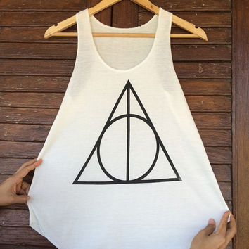Harry Potter shirt Deathly Hallows Tank Top Gryffindor Women Fitness Top Summer Summer Vintage tank tops for woman Short Shirt Gift