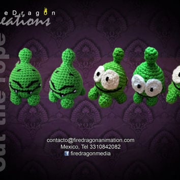 Om Nom Cut the rope Amigurumi
