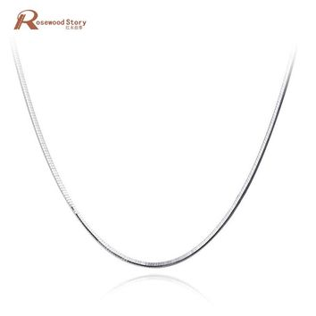 100% Real Pure 925 Sterling Silver Snake Bones Shaped Chain Necklace For Women Girl Fine Jewelry Long 40/45cm