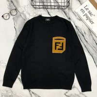 Fendi autumn and winter new men and women sweater  trend couple models print
