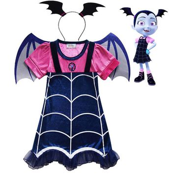 2018 new summer Lace Dress dress Cosplay Fantasy Dresses Clothing Girls Vampirina Costume Little Girls Outfit
