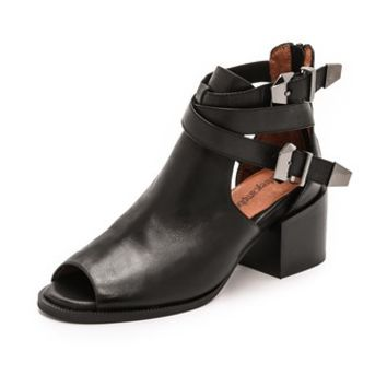 Gentry Open Toe Booties