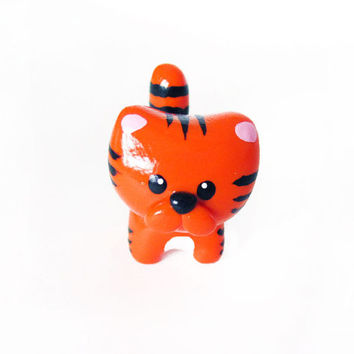 Cute Orange Tiger Miniature Charm