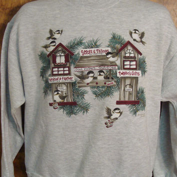 Birds and Signs Christmas Sweatshirt