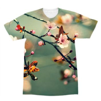 Dog Wood Tree Branch in Bloom American Apparel Sublimation T-Shirt