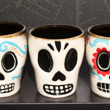 Day of the Dead Mug  Sugar Skull  Made to Order by Frostbeard
