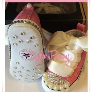 DCCK1IN baby first star bling converse with pearls