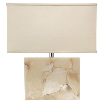 Borealis Alabaster Table Lamp, Cream, Table Lamps