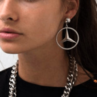 Benz Hoop Earrings