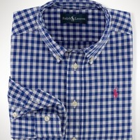Cotton Gingham Blake Shirt