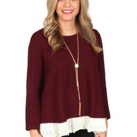 Just The Girl Burgundy Sweater | Monday Dress Boutique