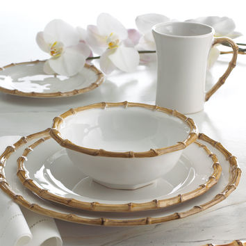 "Four ""Bamboo"" Cereal Bowls - Juliska"