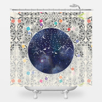 Beautiful Starry Night Shower Curtain