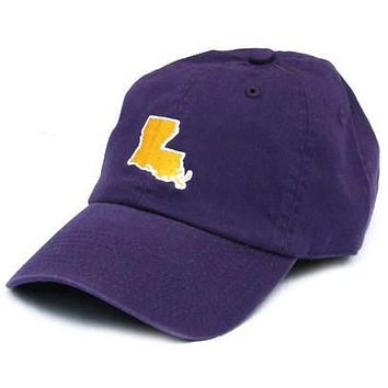 LA Baton Rouge Gameday Hat in Purple by State Traditions