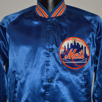 80s New York Mets Chalk Line Satin Jacket Small