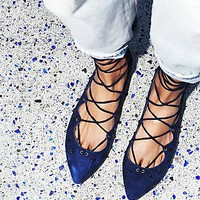 Jeffrey Campbell + Free People Womens Spring Sparkle Flat