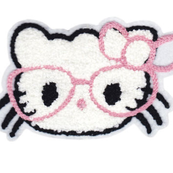 Large Chenille Cute Cat Head Patch 13cm
