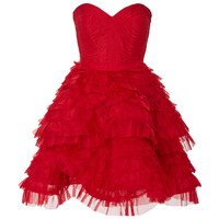 Red Rose Petal Mini Corset Dress | Moda Operandi