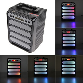 Brand New Bluetooth Speaker Super Bass Portable Speakers Outdoor With USB/TF/AUX/FM Radio Card Powerful Portable Speaker