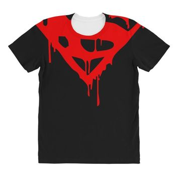 dripping blood superman All Over Women's T-shirt