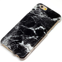 Granite Slab Marble Black Stone Style Marble Phone Case iPhone 6, SE, 6 Plus, 6S, 5, 5C, 5S, Galaxy S6, S7, Note 4, Note 5