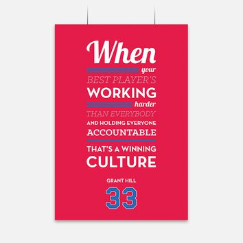 Winning Culture Quote by Grant Hill