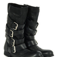 H by Hudson Keira Black Leather Boots at Coggles.com online store