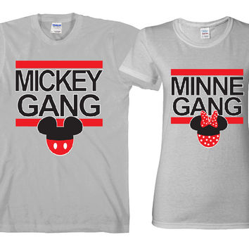 "Mickey Gang - Minnie Gang ""Cute Couples Matching T-shirts"""