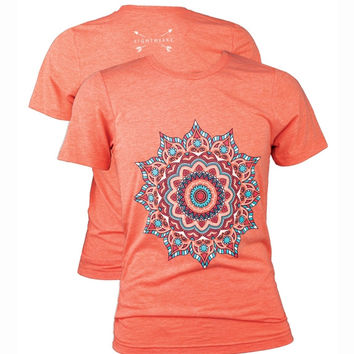 Southern Couture Lightheart Mandalla Triblend Front Print T-Shirt