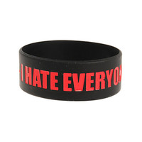 I Hate Everyone Rubber Bracelet | Hot Topic