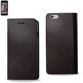 Reiko Reiko Iphone 6 Plus Flip Folio Case With Card Holder In Brown