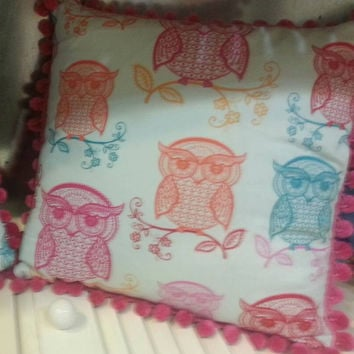 Decrative Pillow Multi/Pink Owl