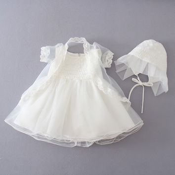 Baby Girl Baptismal / Christening Gown with a Hat