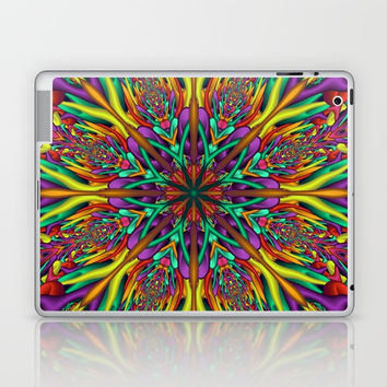 Crazy colors 3D mandala Laptop & iPad Skin by Natalia Bykova