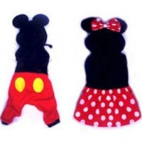 bad Ass Petz-Minnie and Mickey Mouse Costumes for Dogs Size 0