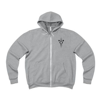 Fulcrum Premium Fleece Full-Zip Hoodie (Front & Back Prints)
