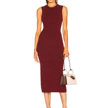 Victoria Beckham Slub Signature Dress in Bordeaux Melange | FWRD