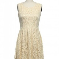 Enchanted Evening Dress in Cream